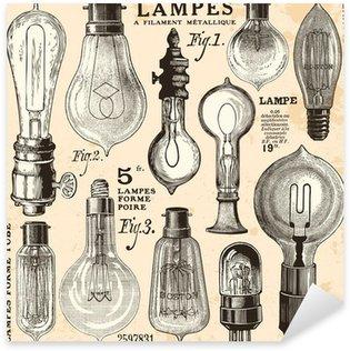 Nálepka žárovka