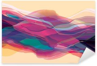 Nálepka Barevné vlny, abstraktní povrch, moderní zázemí, vektorové design ilustrace pro vás vrhají