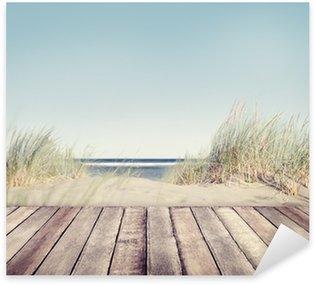 Nálepka Beach and Wooden Plank