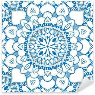 Nálepka Pixerstick Bezešvé květinový vzor