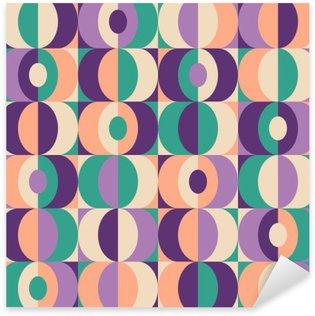 Nálepka Bezešvé vinobraní geometrický vzor