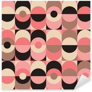 Nálepka Pixerstick Bezešvé vinobraní geometrický vzor