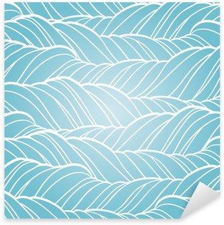 Nálepka Bezešvé vlna abstraktní ručně tažené vzor.