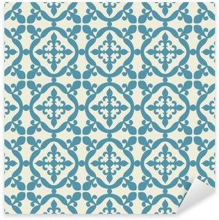 Nálepka Pixerstick Bezešvé vzor. Portugalština, marocká, španělská dlaždice.