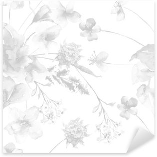 Nálepka Pixerstick Bezešvé vzor s květinami