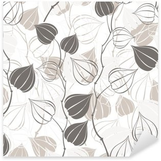 Nálepka Pixerstick Bezešvé vzor s pobočkami Physalis. Abstraktní květinové pozadí.