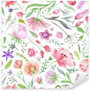 Nálepka Pixerstick Bright Vintage Akvarel Summer Pattern