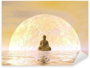Nálepka Pixerstick Buddha Meditace - 3d render