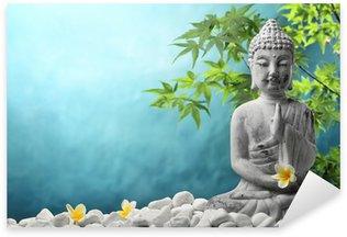 Nálepka Pixerstick Buddha v meditaci