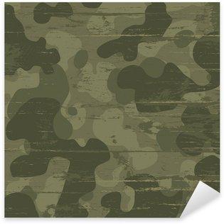 Nálepka Pixerstick Camouflage vojenské pozadí. Vektorové ilustrace, EPS10