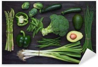 Nálepka Čerstvé zelené organické zelenina