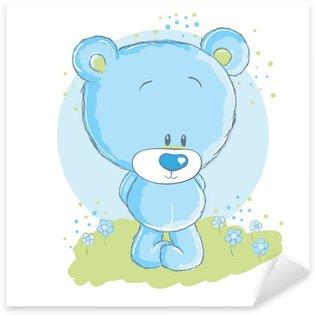 Nálepka Pixerstick Dětská modrá medvěd