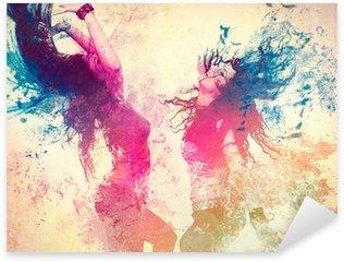 Nálepka Disco disco 09 / pohybující se šplouchnutí
