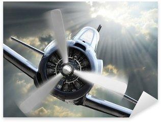 Nálepka Pixerstick Fighter. Retro technologie téma.