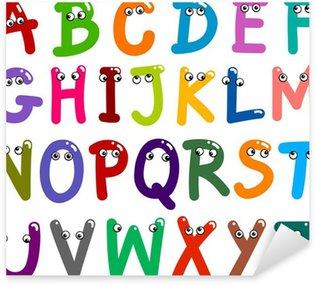 Nálepka Pixerstick Funny velkými písmeny abecedy