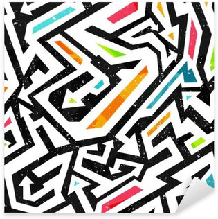 Nálepka Pixerstick Graffiti - bezešvé vzor
