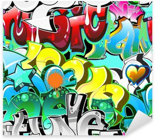 Nálepka Graffiti Urban Art pozadí. Bezešvé provedení