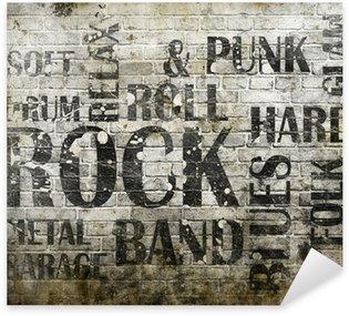 Nálepka Grunge rocková hudba plakát