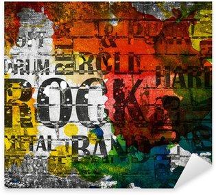 Nálepka Pixerstick Grunge rocková hudba plakát