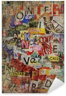Nálepka Pixerstick Grunge texturované pozadí