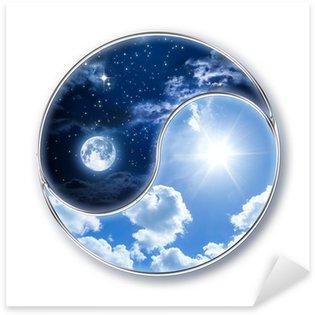 Nálepka Pixerstick Ikona tao - měsíc a slunce