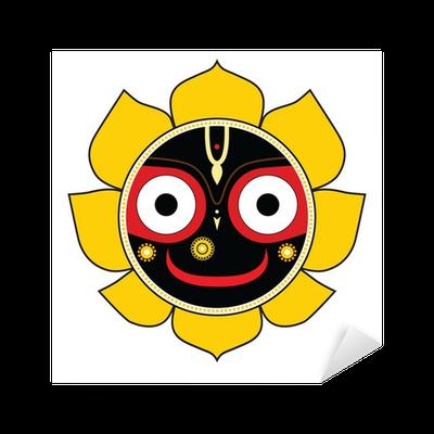 Nálepka Pixerstick Jagannath. Indický bůh vesmíru ...
