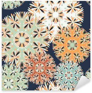 Nálepka Pixerstick Krásné bezešvé vzor. dekorativní prvky vektorové ilustrace