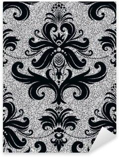 Nálepka Pixerstick Květinové tapety stříbro