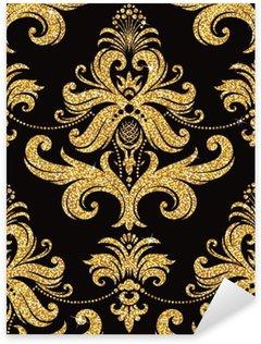 Nálepka Pixerstick Květinové zlatý tapety