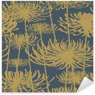Nálepka Pixerstick Květinový bezproblémové vzorek vintage styl