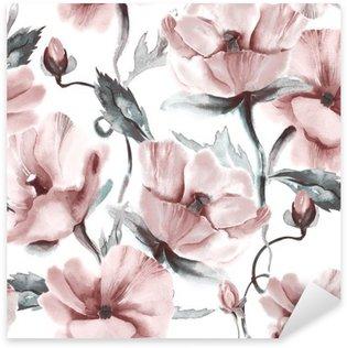 Nálepka Pixerstick Květinový vzor bezešvé