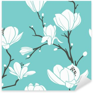 Nálepka Modrá magnolia vzor
