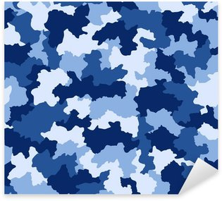Nálepka Pixerstick Modrá maskovací vzor bezešvé