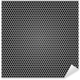 Nálepka Pixerstick Mřížka šedá kov, černé pozadí