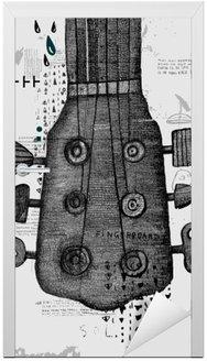 Nálepka na Dveře Гриф от гитары