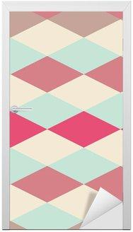 Nálepka na Dveře Abstraktní retro geometrický vzor
