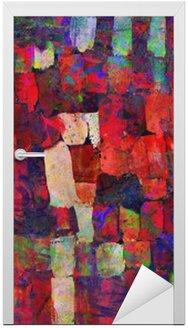 Nálepka na Dveře Abstraktní umění, malba