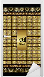Nálepka na Dveře Asmaul Husna, 99 Jména Všemohoucím Alláhem