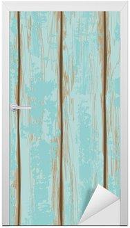 Nálepka na Dveře Bezešvé vzor z dřevěných desek