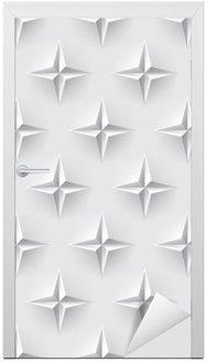 Nálepka na Dveře Bílá 3d bezešvé textury