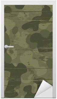 Nálepka na Dveře Camouflage vojenské pozadí. Vektorové ilustrace, EPS10