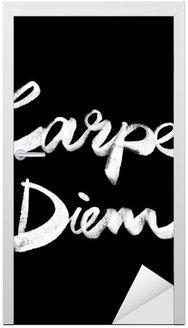 Nálepka na Dveře Carpe diem. vlastnoruční citát