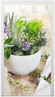Nálepka na Dveře Čerstvé bylinky