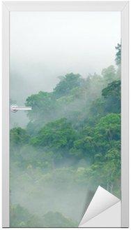 Nálepka na Dveře Deštný prales ranní mlha