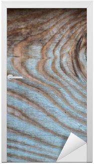 Nálepka na Dveře Dřevo starý rustikální multicolor pozadí, skvrnka na dřevěné desce