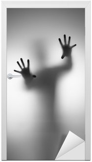 Nálepka na Dveře Duchové hand