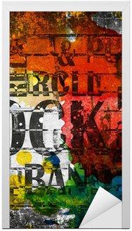 Nálepka na Dveře Grunge rocková hudba plakát