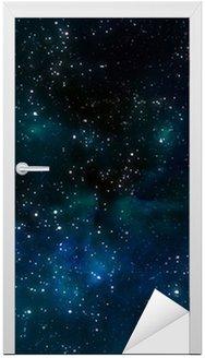 Nálepka na Dveře Hluboko ve vesmíru, nebo hvězdná noční oblohy