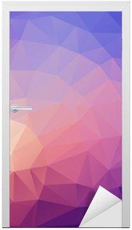 Nálepka na Dveře Ilustrace barevných poligonal abstraktní pozadí.
