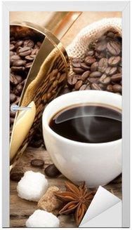 Nálepka na Dveře Káva